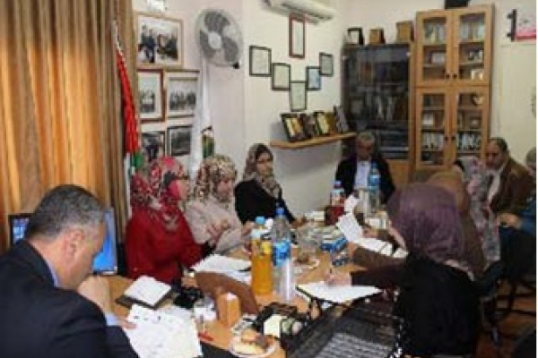 AWCSW and Al-Quds Open University Discuss the Needs ...