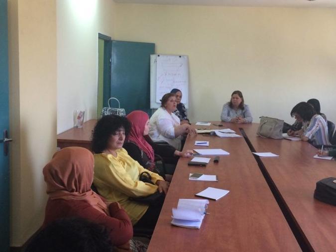 اجتماع الحملة النسائية لمقاطعة البضائع الاسرائيلية في رام الله