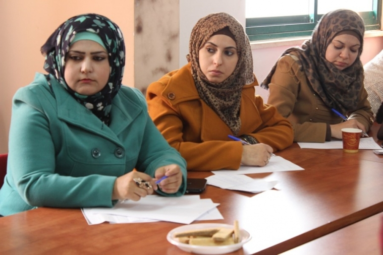 """AWCSW Conducts an Evaluative Meeting for Beneficiary Females in the Second Year of """"Enhancing Palestinian Women's Participation in Public and Political Life"""" Program"""