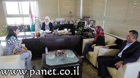 د. غنام تستقبل مديرة اتحاد لجان المرأة برام الله