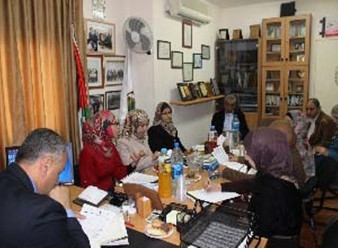 "AWCSW and Al-Quds Open University Discuss the Needs of University Female Students' in the Presence of Women of Local Councils within the Framework of ""Enhancing Palestinian Women's Participation in Public and Political Life"" Program"