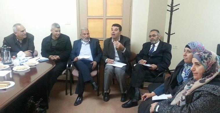 اجتماع تحضيري لمشروع المرأة الفلسطينية والمشاركة السياسية